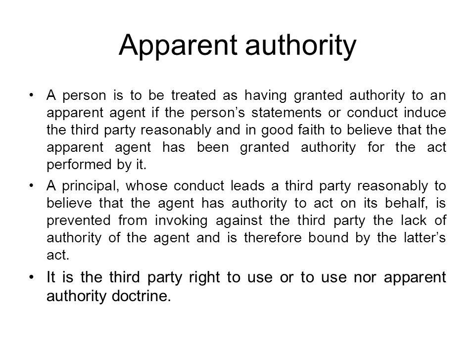 Apparent authority