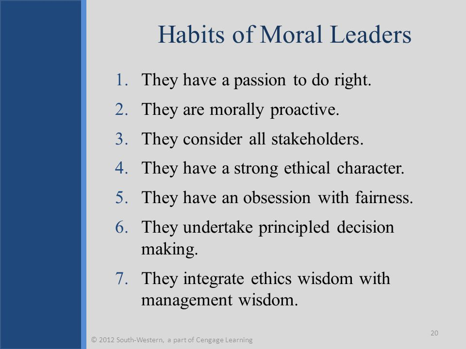 Habits of Moral Leaders