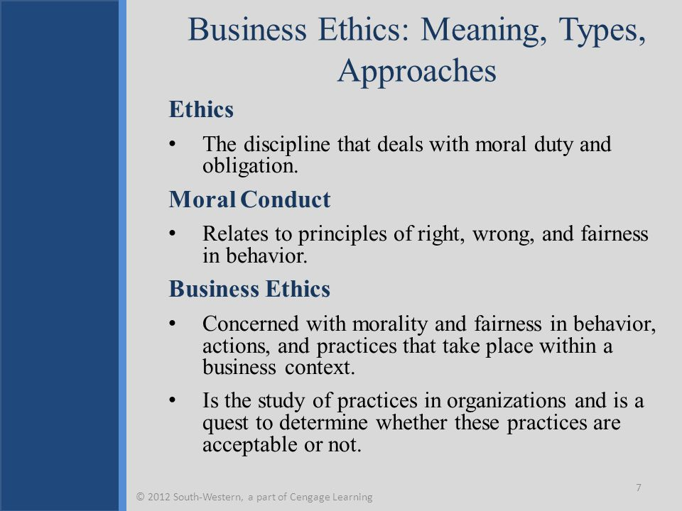 Business Ethics: Meaning, Types, Approaches