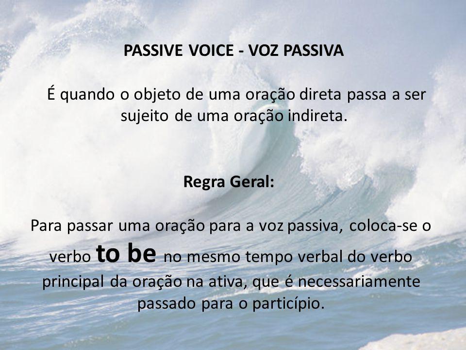 PASSIVE VOICE - VOZ PASSIVA