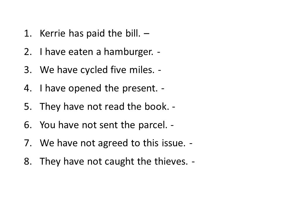 Kerrie has paid the bill. –