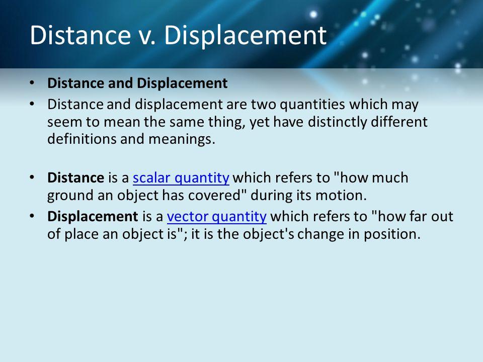 Distance v. Displacement