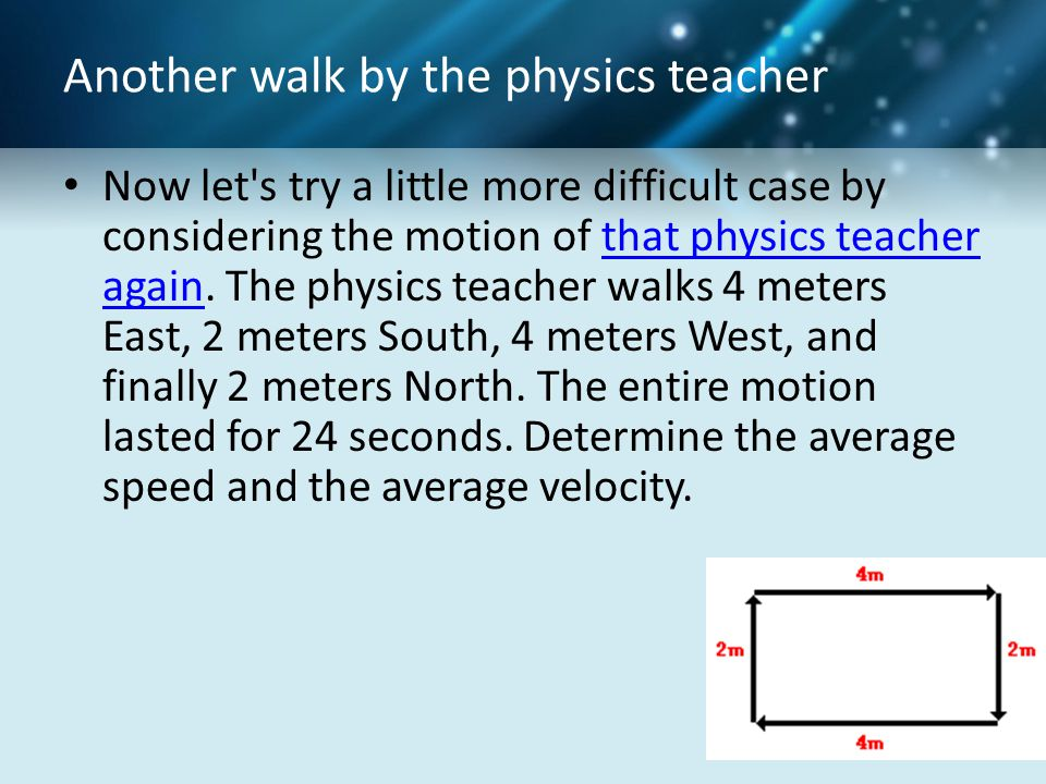 Another walk by the physics teacher