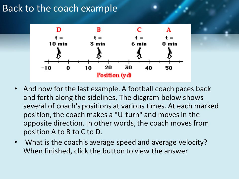 Back to the coach example