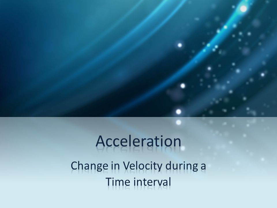 Change in Velocity during a Time interval