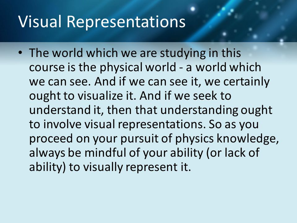 Visual Representations