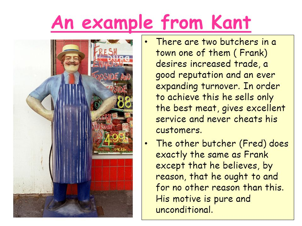 An example from Kant