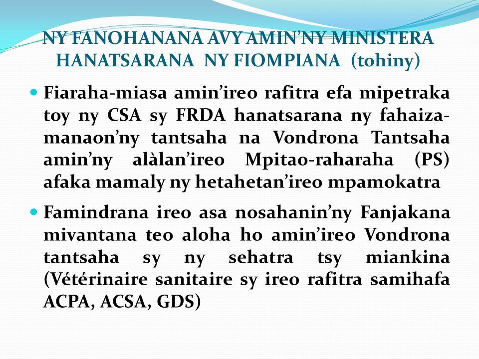 NY FANOHANANA AVY AMIN'NY MINISTERA HANATSARANA NY FIOMPIANA (tohiny)
