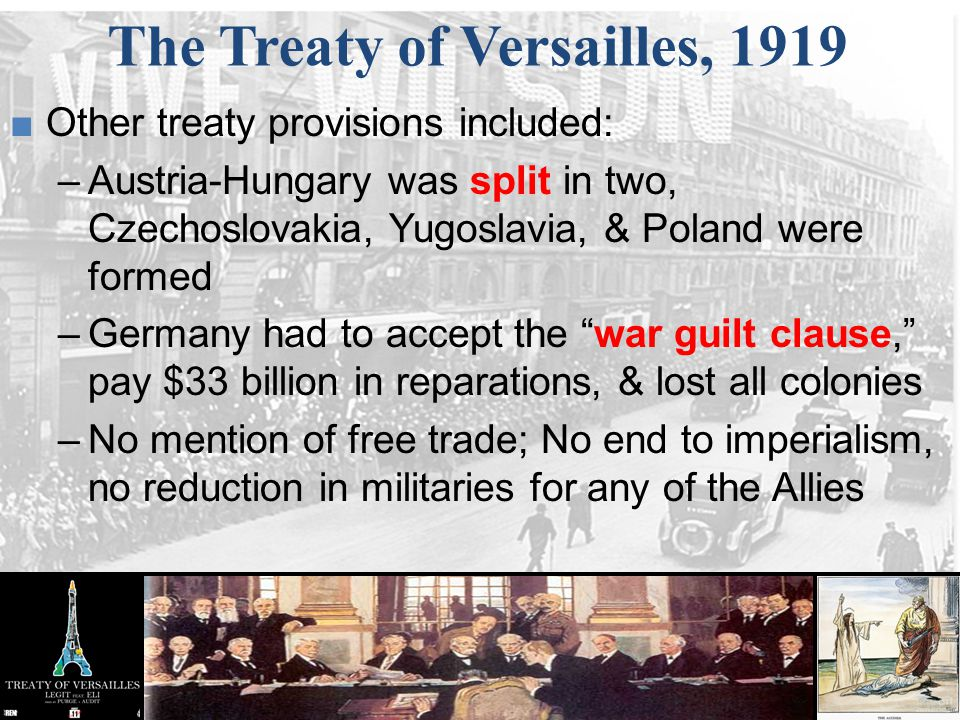 How did the treaty of versailles