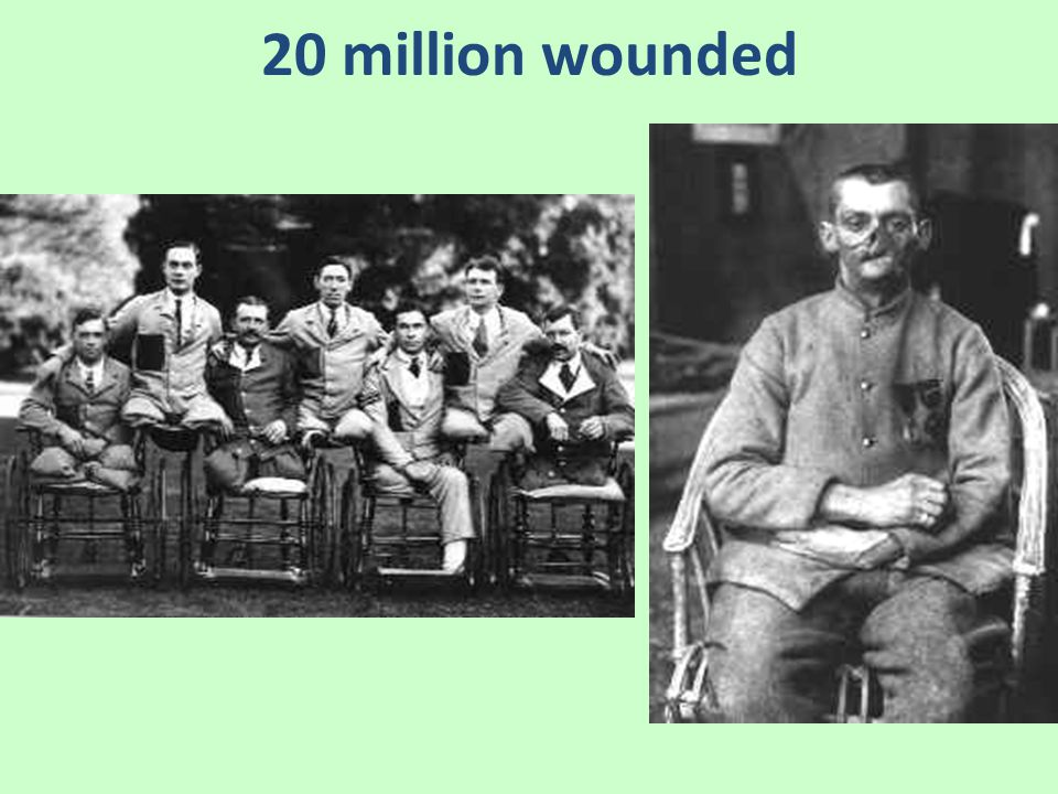20 million wounded