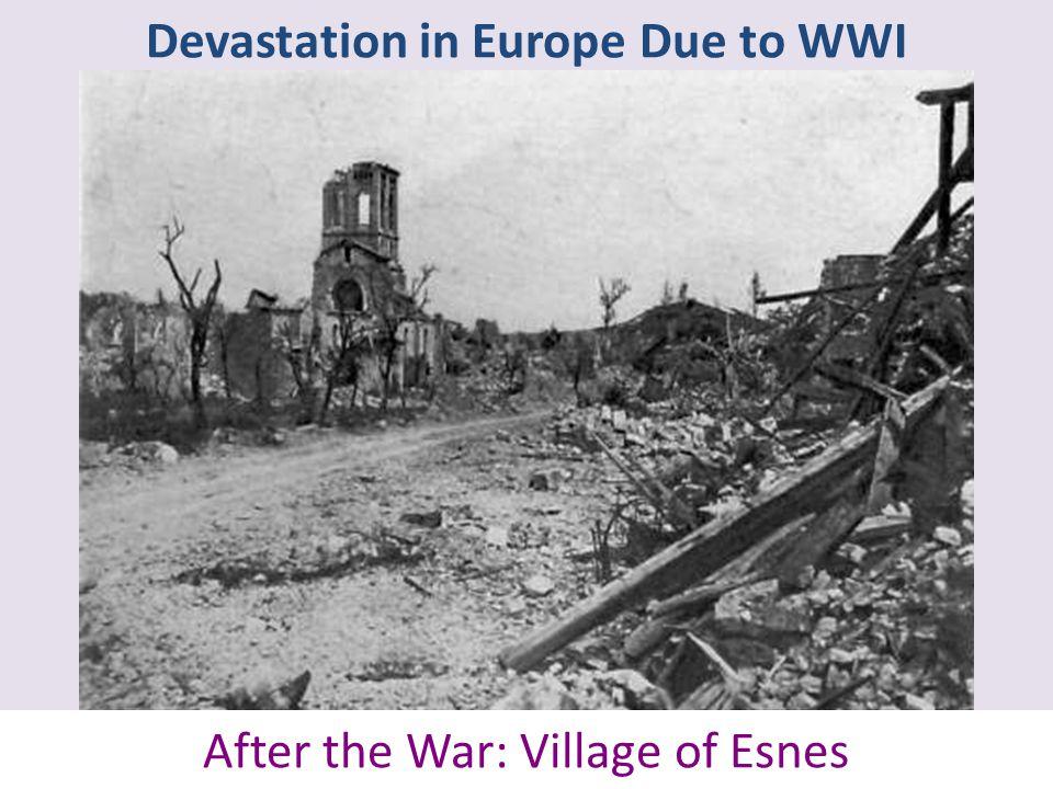 Devastation in Europe Due to WWI