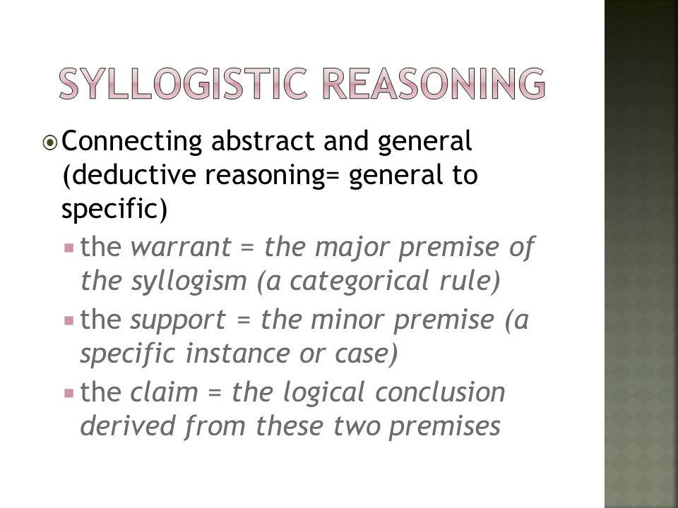 syllogistic reasoning