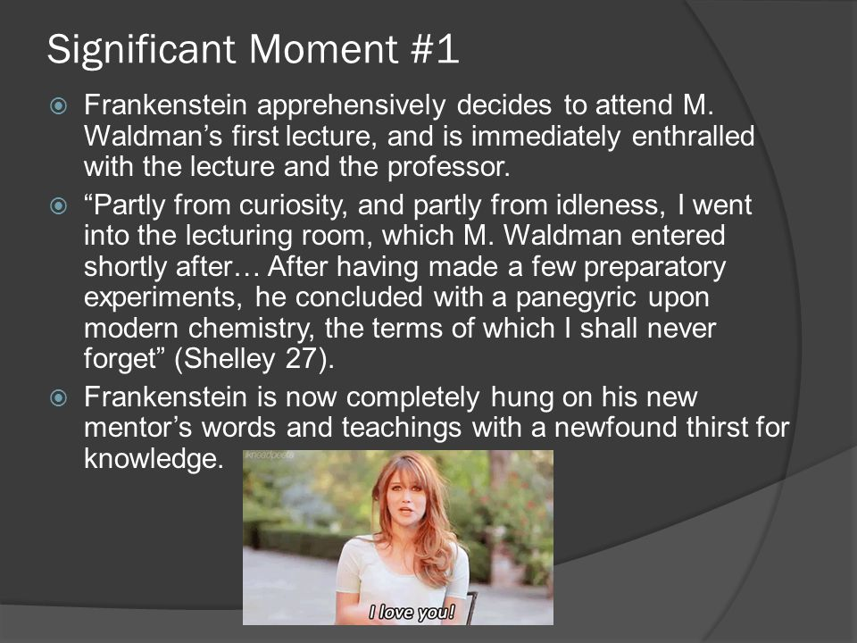 Significant Moment #1