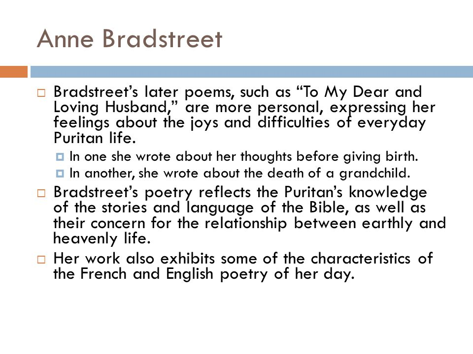 Before The Birth Of One Of Her Children - Poem by Anne Bradstreet