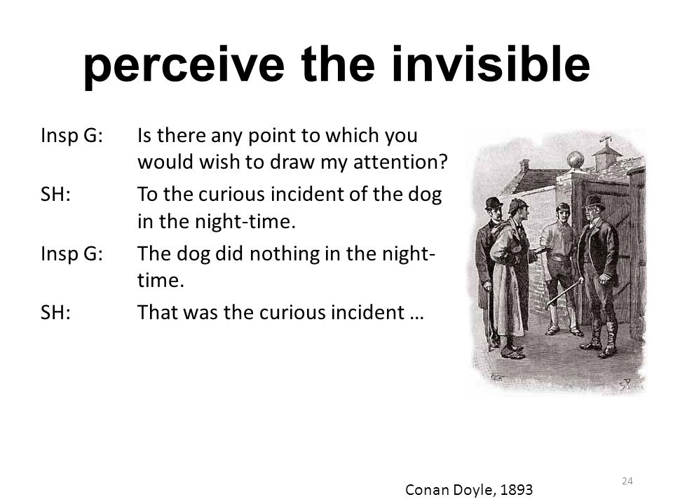 perceive the invisible
