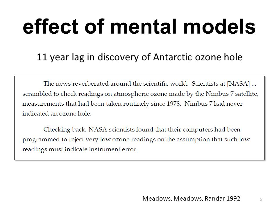 effect of mental models