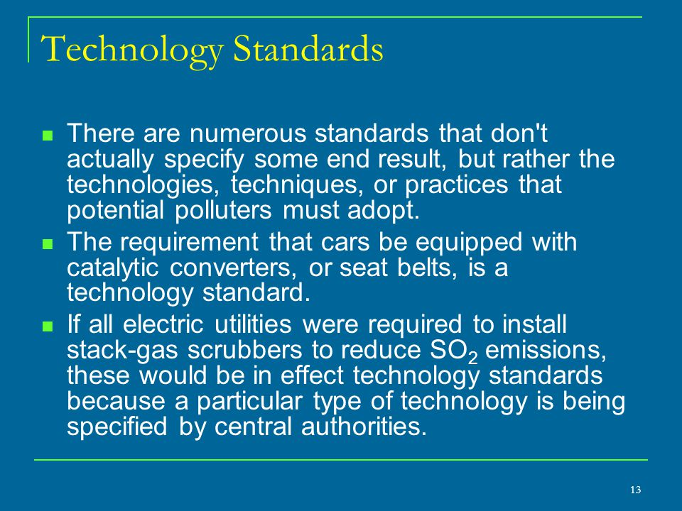 Technology Standards