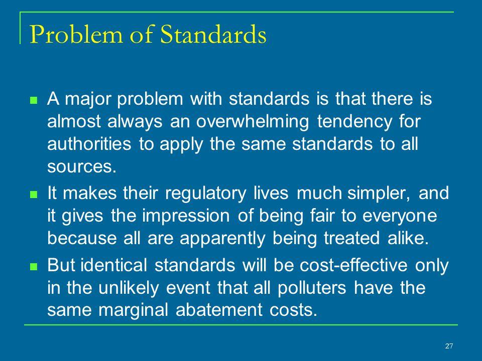 Problem of Standards