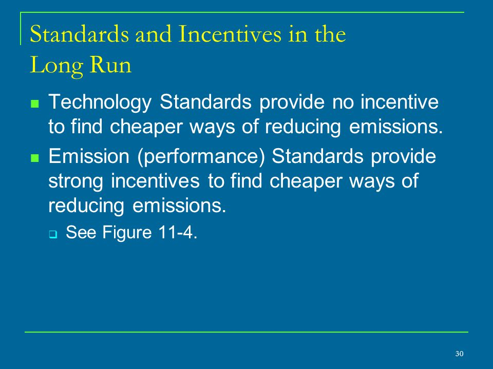 Standards and Incentives in the Long Run
