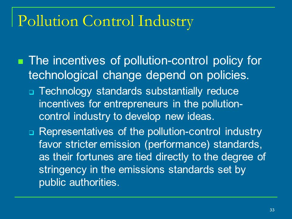 Pollution Control Industry