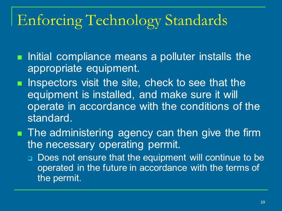 Enforcing Technology Standards