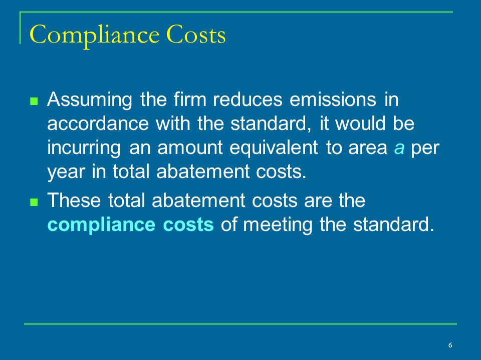 Compliance Costs