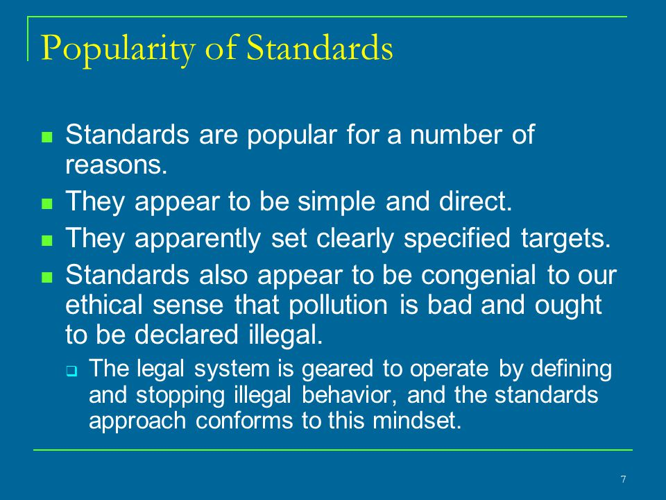 Popularity of Standards