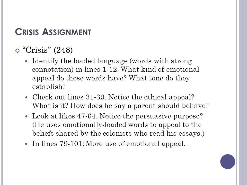 Crisis Assignment Crisis (248)