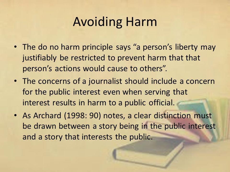 Avoiding Harm