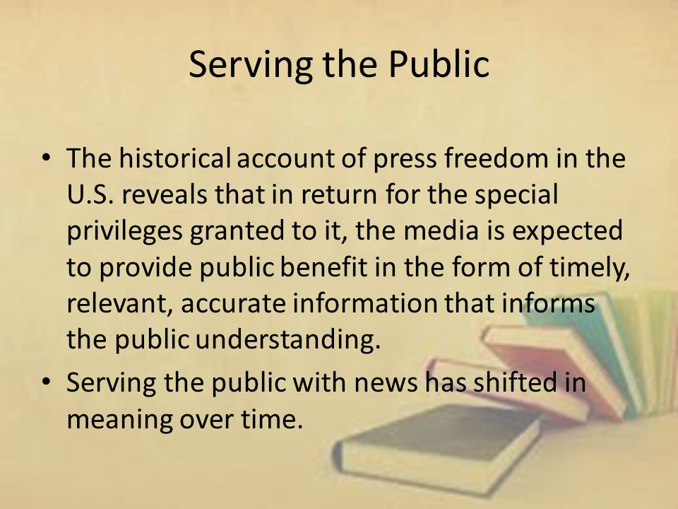 Serving the Public