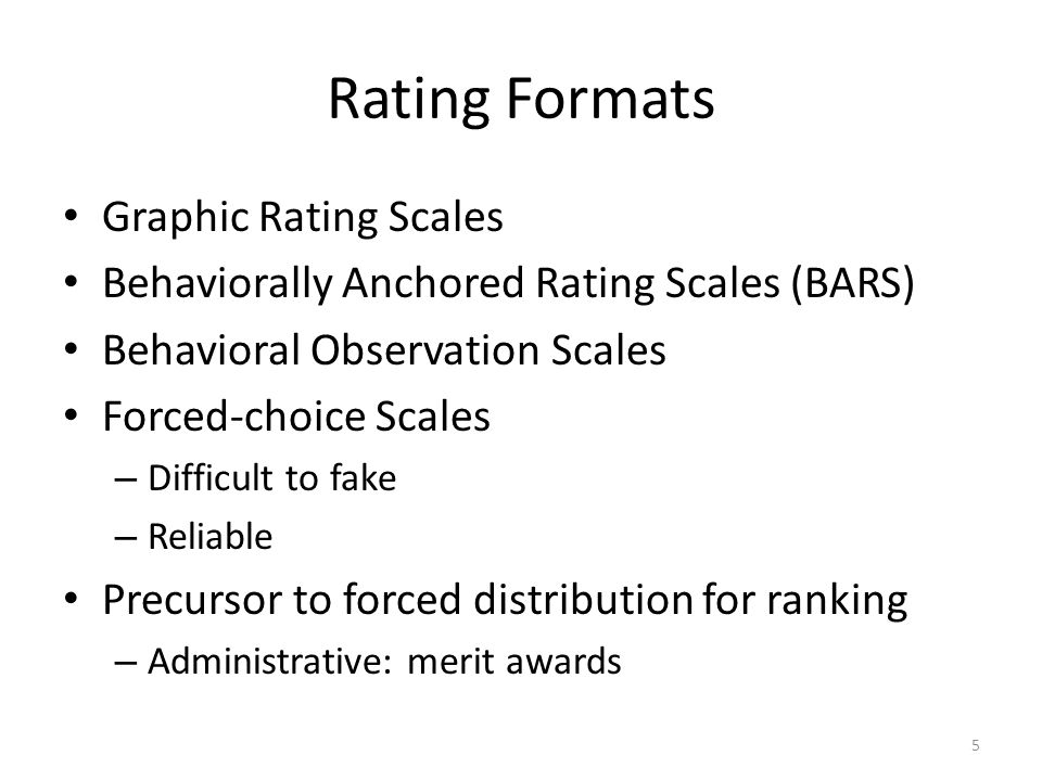 Rating Formats Graphic Rating Scales