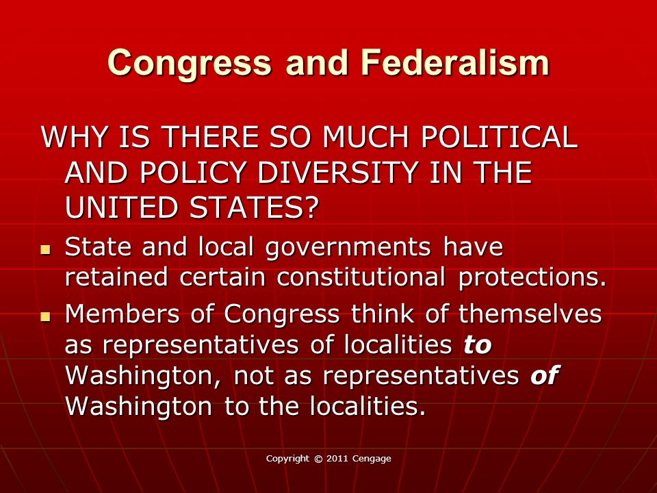 Congress and Federalism