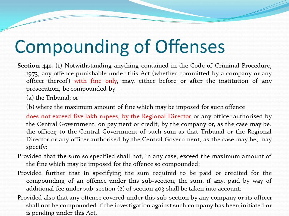 Compounding of Offenses