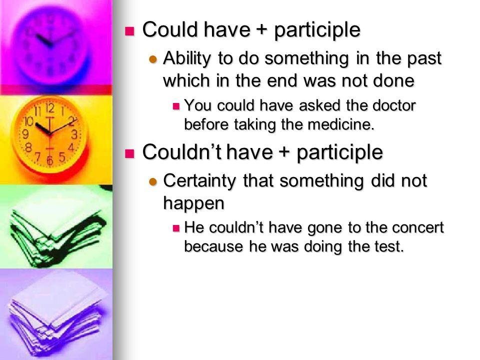 Could have + participle