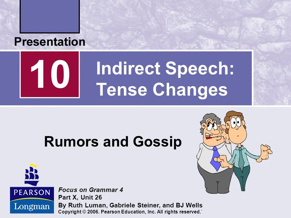 Indirect Speech: Tense Changes