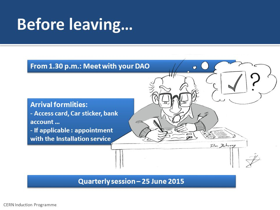 Quarterly session – 25 June 2015