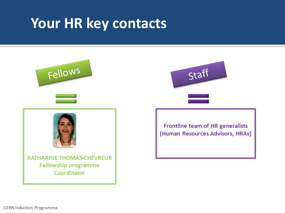 Your HR key contacts Fellows Staff