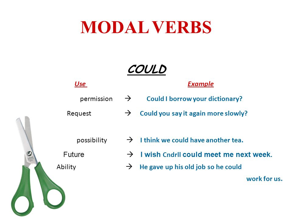 MODAL VERBS COULD Use Example