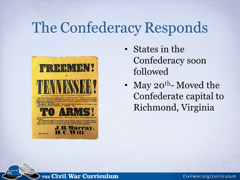 The Confederacy Responds