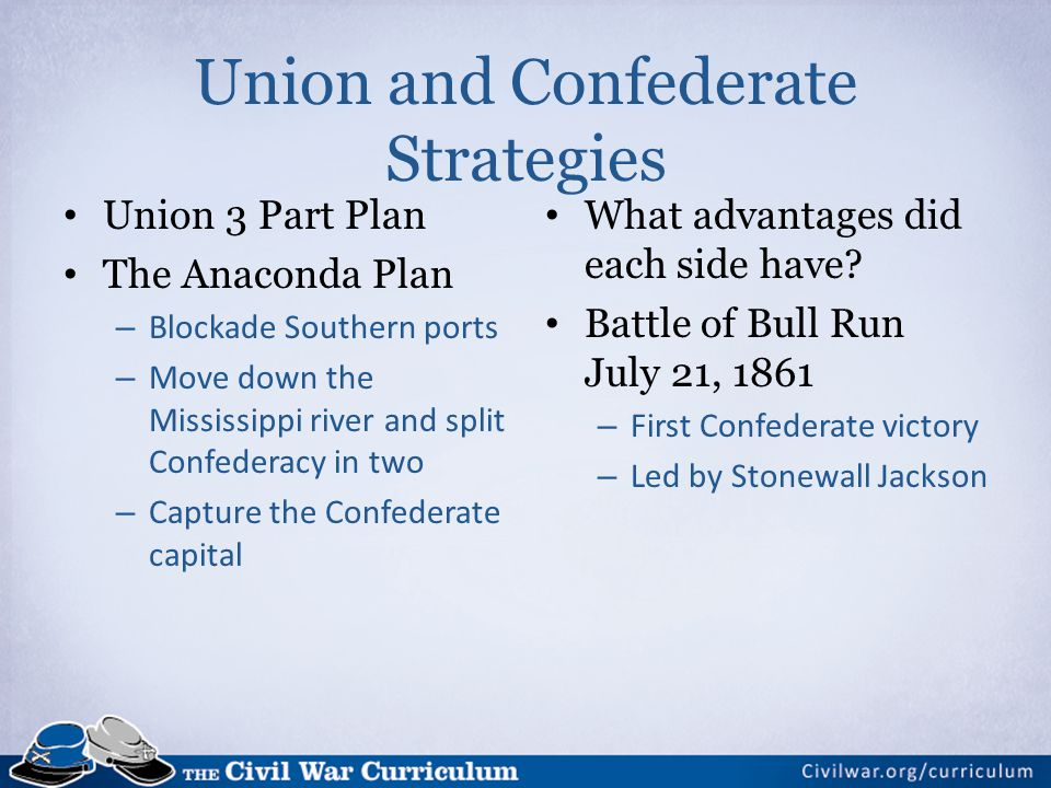 Union and Confederate Strategies