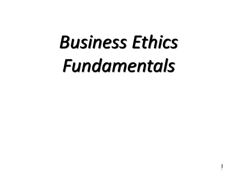 Business Ethics Fundamentals
