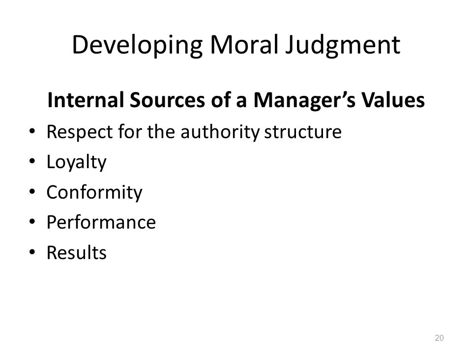 Sources of Moral Authority