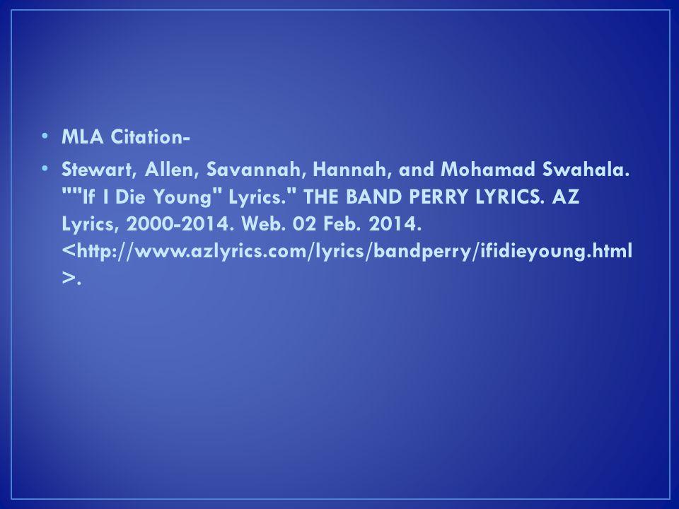 MLA Citation-