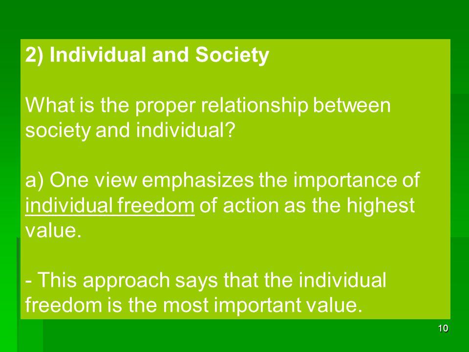 2) Individual and Society