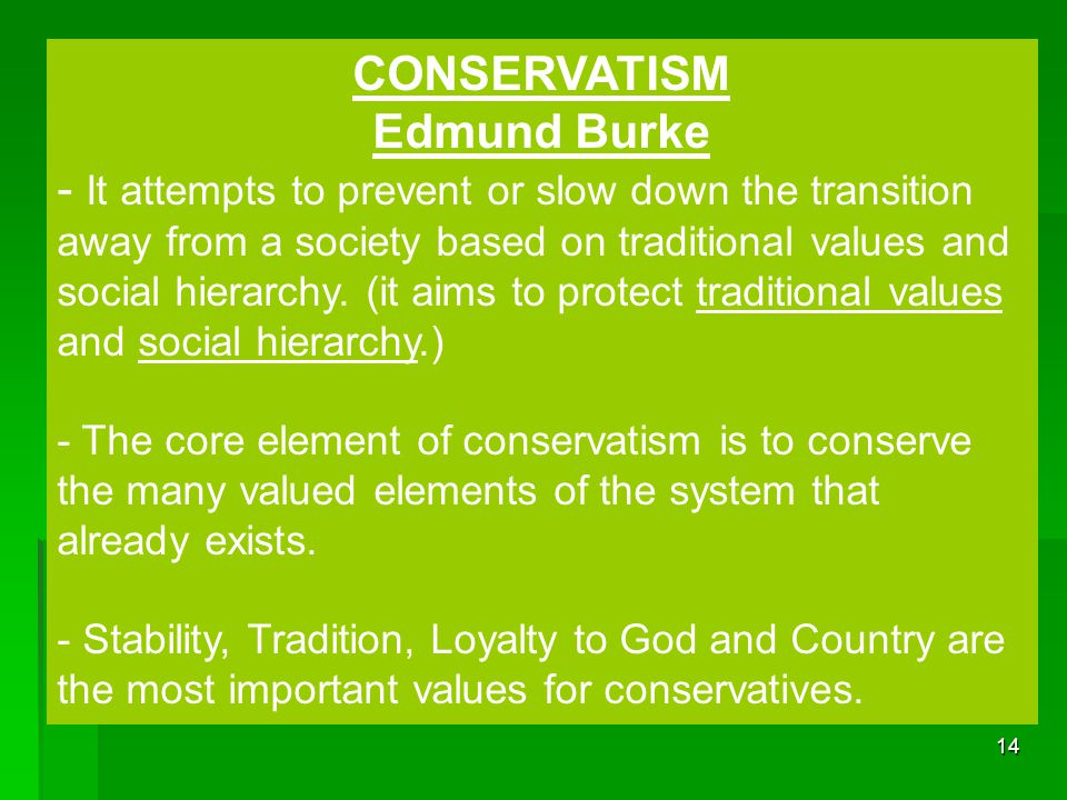 CONSERVATISM Edmund Burke