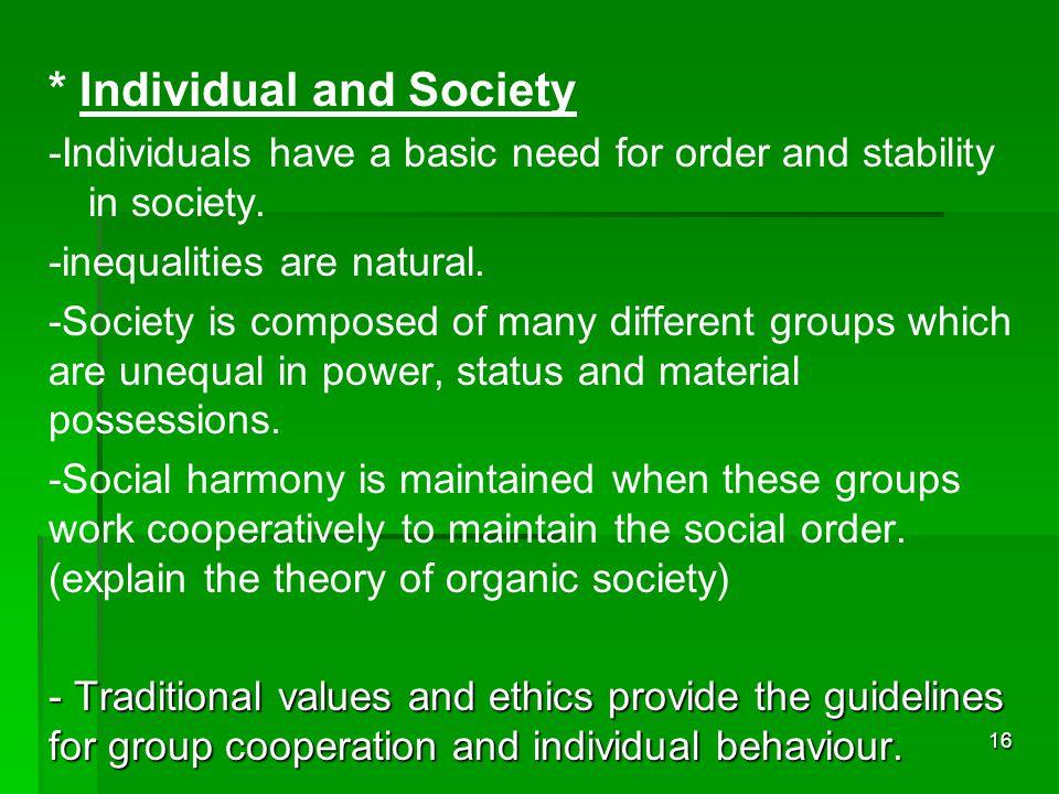 * Individual and Society