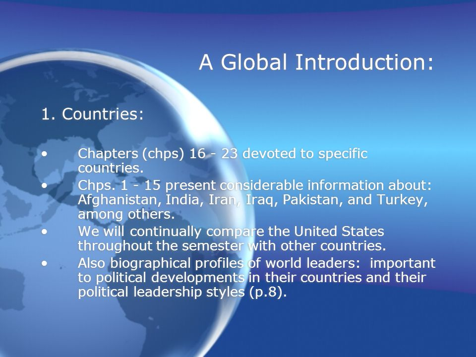 A Global Introduction: