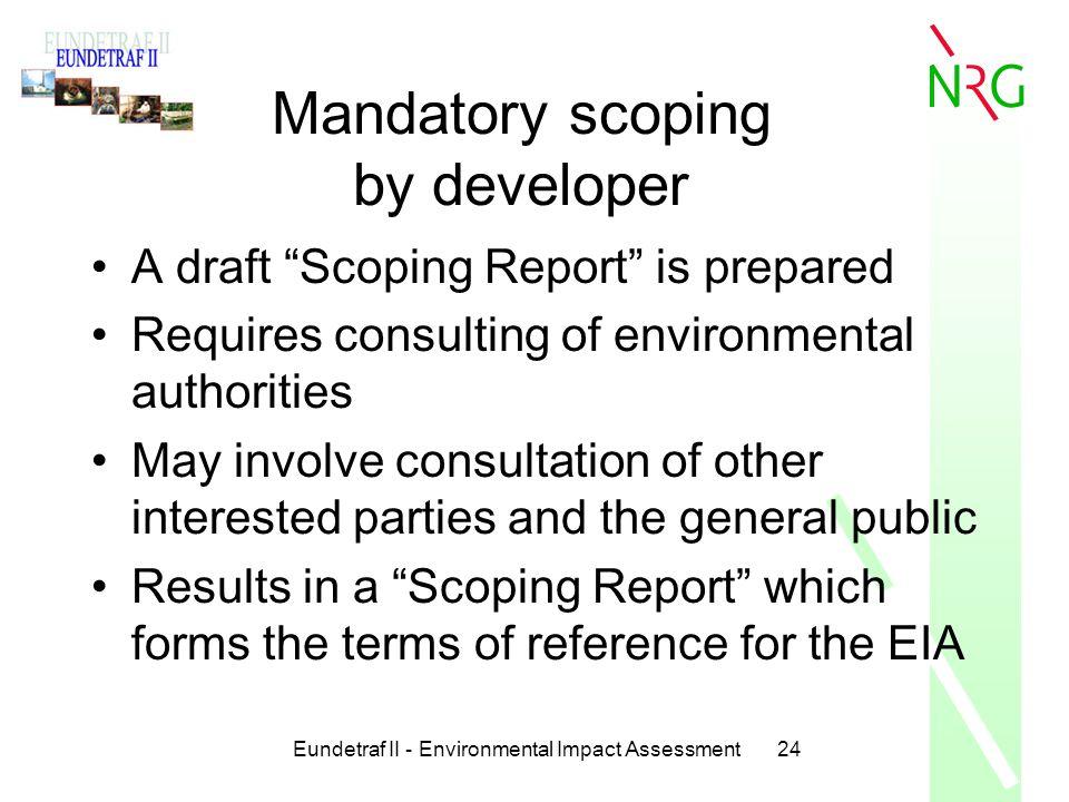 Mandatory scoping by developer