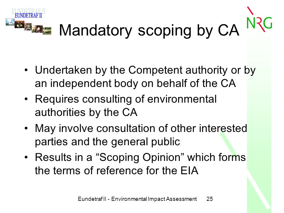 scoping and screening in environmental impact Environmental impact assessment scoping report   6 overview of potential environmental impacts  initial screening matrix for potential activity/environment .