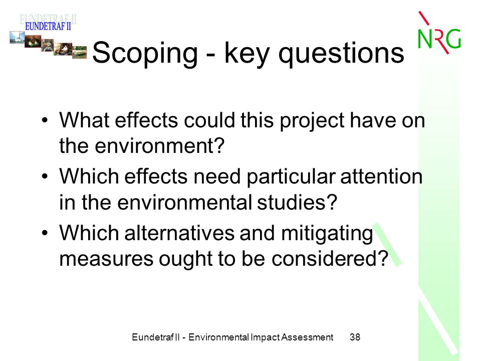 Scoping - key questions